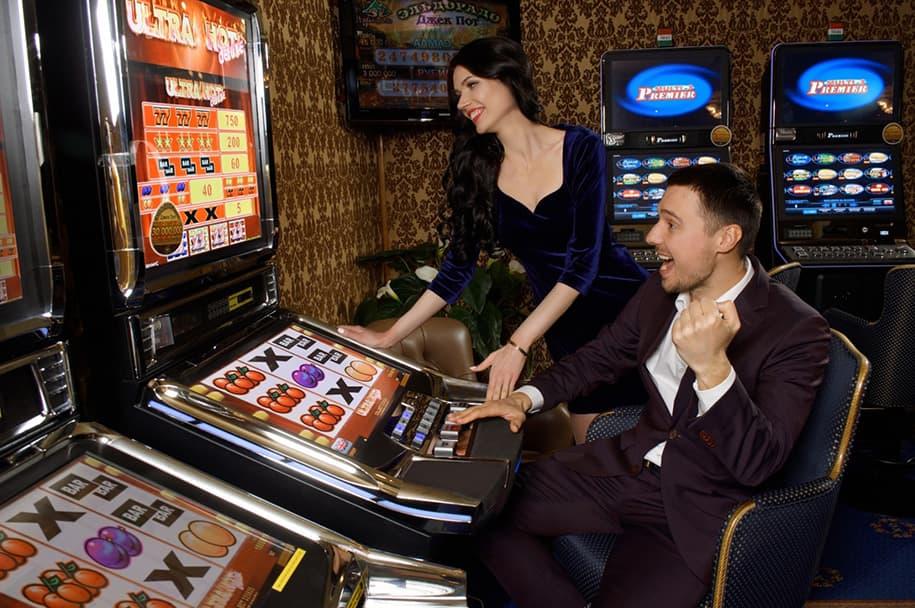 Slot hall in Shangri La casino